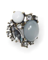 Club Monaco | Gray Cluster Statement Ring | Lyst