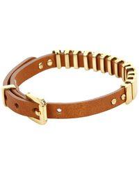 Michael Kors - Brown Jet Set Single Wrap Bracelet - Lyst