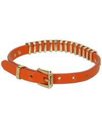 Michael Kors - Orange Jet Set Single Wrap Bracelet - Lyst