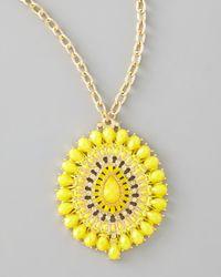Panacea Yellow Epoxy Pendant Necklace