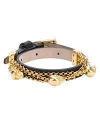 Alexander McQueen | Black Skull Charm Bracelet | Lyst