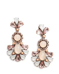 Mango - White Touch Stones Earrings - Lyst