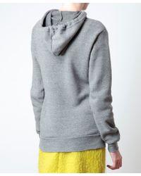 Rodarte Gray Radarte Hooded Sweatshirt