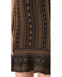 Torn By Ronny Kobo Brown Michaela Tribal Dress