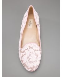 Valentino   Pink Crystal-Embellished Satin Sandals   Lyst