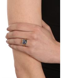 BaubleBar | Blue Lapis Quad Ring | Lyst