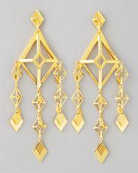 Eddie Borgo | Metallic Gold Large Lattice Chandelier Earrings | Lyst