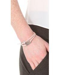McQ - Pink Mini Razor Blade Bracelet - Lyst