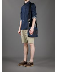 Paul Smith Blue Mini Print Shoulder Bag for men