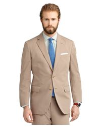 Brooks Brothers - Natural Madison Fit Poplin Suit for Men - Lyst