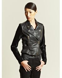 Givenchy - Black Contrast Panel Leather Jacket - Lyst