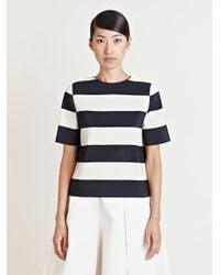 Lanvin - Black Striped Top - Lyst