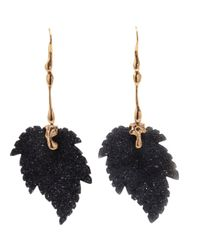 Lucifer Vir Honestus | Metallic Agate Leaves Earrings | Lyst