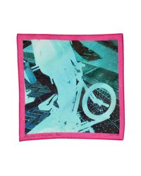 Paul Smith - Multicolor Turquoise/ Pink Multi Cotton Photo Print Hankie for Men - Lyst
