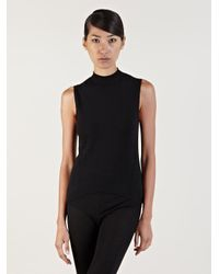 318b19af76e2df Lyst - Rick Owens Sleeveless Knit Top in Black