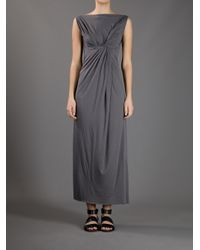 Rick Owens Lilies | Gray Knot Dress | Lyst