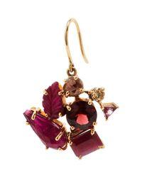 Sharon Khazzam   Red Garnet Ruby Pink Tourmaline Norma Earring   Lyst