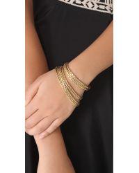 Wouters & Hendrix | Metallic 8 Strand Gold Chain Bracelet | Lyst