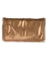 Stella McCartney Brown Metallic Crackle Falabella Bag
