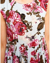 ASOS | Multicolor Smock Dress in Vintage Print | Lyst
