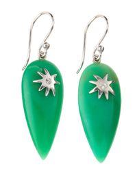 Elizabeth Showers - Green Drew Chrysophase Hope Star Earrings - Lyst