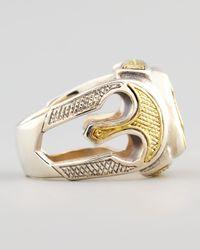 Konstantino - Metallic Myrmidones Etched Shield Ring for Men - Lyst