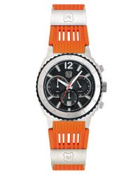 Andrew Marc Mens Sport Chronograph Watch with Orange Strap for men