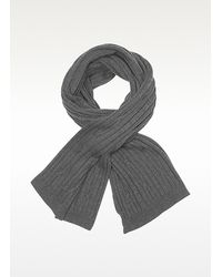 CoSTUME NATIONAL Black Solid Wool Long Scarf for men