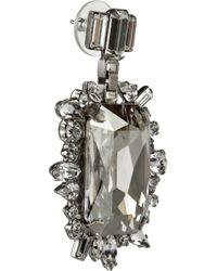 DANNIJO - Metallic Nahm Silverplated Crystal Earrings - Lyst