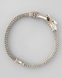 John Hardy - Metallic Naga Dragon Station Chain Bracelet - Lyst