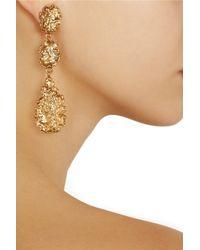 Oscar de la Renta Metallic Goldplated Crystal Earrings