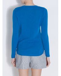 Chinti & Parker - Blue One Pocket Cashmere Jumper - Lyst