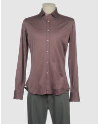 Del Siena - Purple Long Sleeve Shirt for Men - Lyst