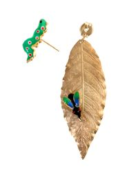 Delfina Delettrez - Green Earrings - Lyst