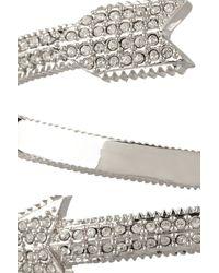 Eddie Borgo - Metallic Silverplated Crystal Arrow Bracelet - Lyst