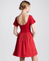 French Connection   Red Samba Aline Dress   Lyst