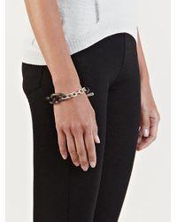 Parts Of 4 Black Seamless Wood Link Bracelet for men