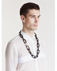Parts Of 4 Multicolor Medium Seamless Wood Link Necklace for men