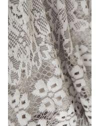 TOPSHOP - Gray Scallop Lace Vest - Lyst