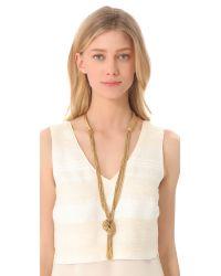 Aurelie Bidermann | Metallic Miki Dora Long Rope Necklace | Lyst