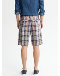 Banana Republic Blue Madras Plaid Shorts for men