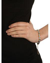BaubleBar - Metallic Beige Suede Chain Bracelet - Lyst