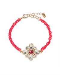 BaubleBar - Pink Fuchsia Ice Clover Bracelet - Lyst