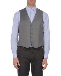 Canali Gray Waistcoat for men