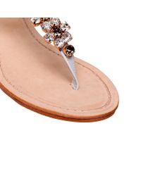 Carvela Kurt Geiger White Kastle Sandals