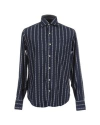 Coast - Blue Long Sleeve Shirts for Men - Lyst