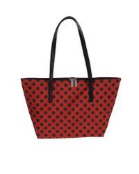 Ffi Fatta Fabbrica Italiana Red Large Fabric Bag