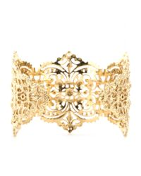 Iam By Ileana Makri Metallic Chantilly Lace Cuff Bracelet