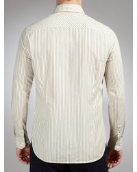 John Lewis Natural John Lewis Co Vintage Double Stripe Shirt for men