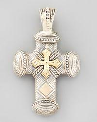 Konstantino Metallic Myrmidones Mens Sterling Bronze Cross Pendant for men